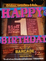 Barcade 1st Anniversary — October 14, 2005