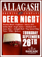 Allagash Night — September 26, 2013