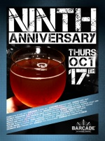 9th Anniversary — October 17, 2013 at Barcade® in Williamsburg, Brooklyn, NY