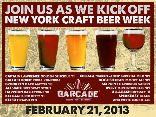 NYC Beer Week Launch  February 21, 2013