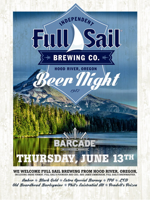 Full Sail Night — June 13, 2013 at Barcade® in Brooklyn, New York