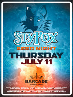 Sly Fox Night — July 11, 2013 at Barcade® in Brooklyn, NY