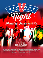 Victory Brewing Night — September 25, 2014 at Barcade® in Brooklyn, New York