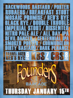 Founders Brewing Night — January 15, 2014 at Barcade® in Brooklyn, NY