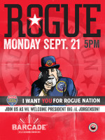 Rogue Ales Night — September 21, 2015 at Barcade® in Brooklyn, New York