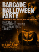 Barcade Halloween Party! on Saturday, October 31st at Barcade® in Brooklyn, New York