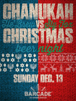 Chanukah Vs Christmas Beer Night — December 13, 2015 at Barcade® in Brooklyn, New York