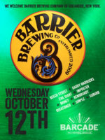 Barrier Brewing Company Night — October 12, 2016 at Barcade® in Brooklyn, NY