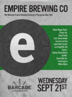 Empire Brewing Night — September 21, 2016 at Barcade® in Brooklyn, NY