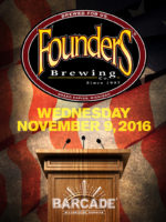 Founders Brewing Co. Night — November 9, 2016 at Barcade® in Williamsburg, Brooklyn, NY