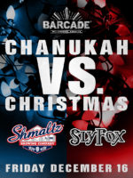 Chanukah Vs. Christmas — December 16, 2016 at Barcade® in Williamsburg, Brooklyn, NY