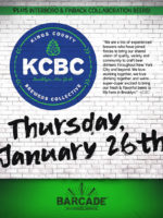 Kings County Brewers Collective — January 26, 2017 at Barcade® in Williamsburg, Brooklyn, NY