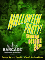 Barcade Halloween Party — October 28, 2017 at Barcade® in Brooklyn, NY | Spooky Tap List and music play list