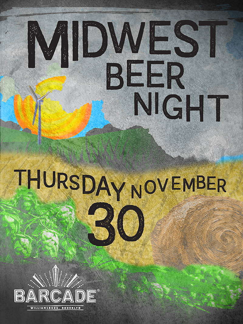 Midwest Beer Night — November 30, 2017 at Barcade® in Williamsburg, Brooklyn, NY