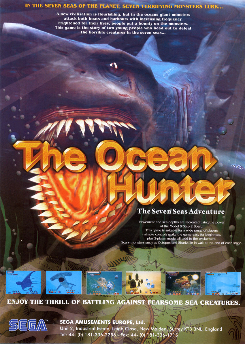 The Ocean Hunter — 1998 at Barcade® in Brooklyn, NY | arcade video game flyer graphic
