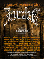 Founders Night — November 21, 2013 at Barcade® in Brooklyn, NY