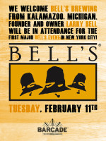 Bell's Brewing NYC Launch — February 11, 2014 at Barcade® in Brooklyn, NY