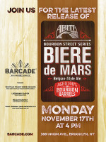 "Abita ""Buffalo Trace"" Biere de Mars Release - November 17th, 2014 at Barcade® in Brooklyn, NY"