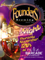 Founders Brewing Co. Night — November 12, 2015 at Barcade® in Brooklyn, New York