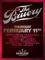 Bruery Night — February 11, 2016 at Barcade® in Brooklyn, New York
