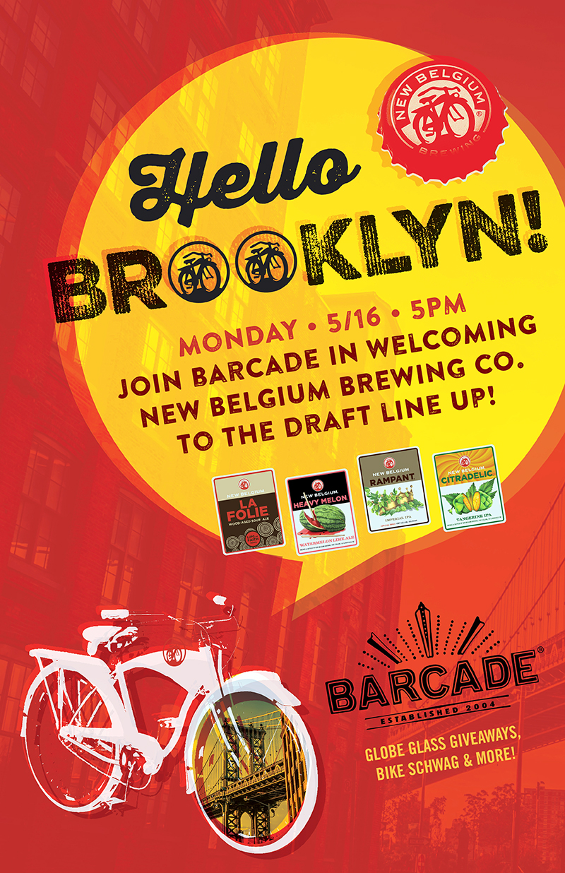 New Belgium Brewing Co. New York Launch at Barcade® in Brooklyn, New York