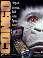 Congo The Movie (pinball) — 1995 at Barcade® in Williamsburg, Brooklyn, NY | arcade game flyer graphic