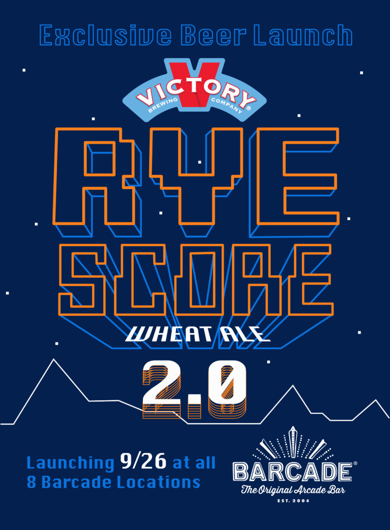 Rye Score 2.0 Beer Launch at Barcade on September 26th 2019 in Brooklyn, New York