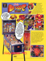 Dr. Dude And His Excellent Ray (pinball) — 1990 at Barcade® in Williamsburg, Brooklyn, NY | arcade game flyer graphic