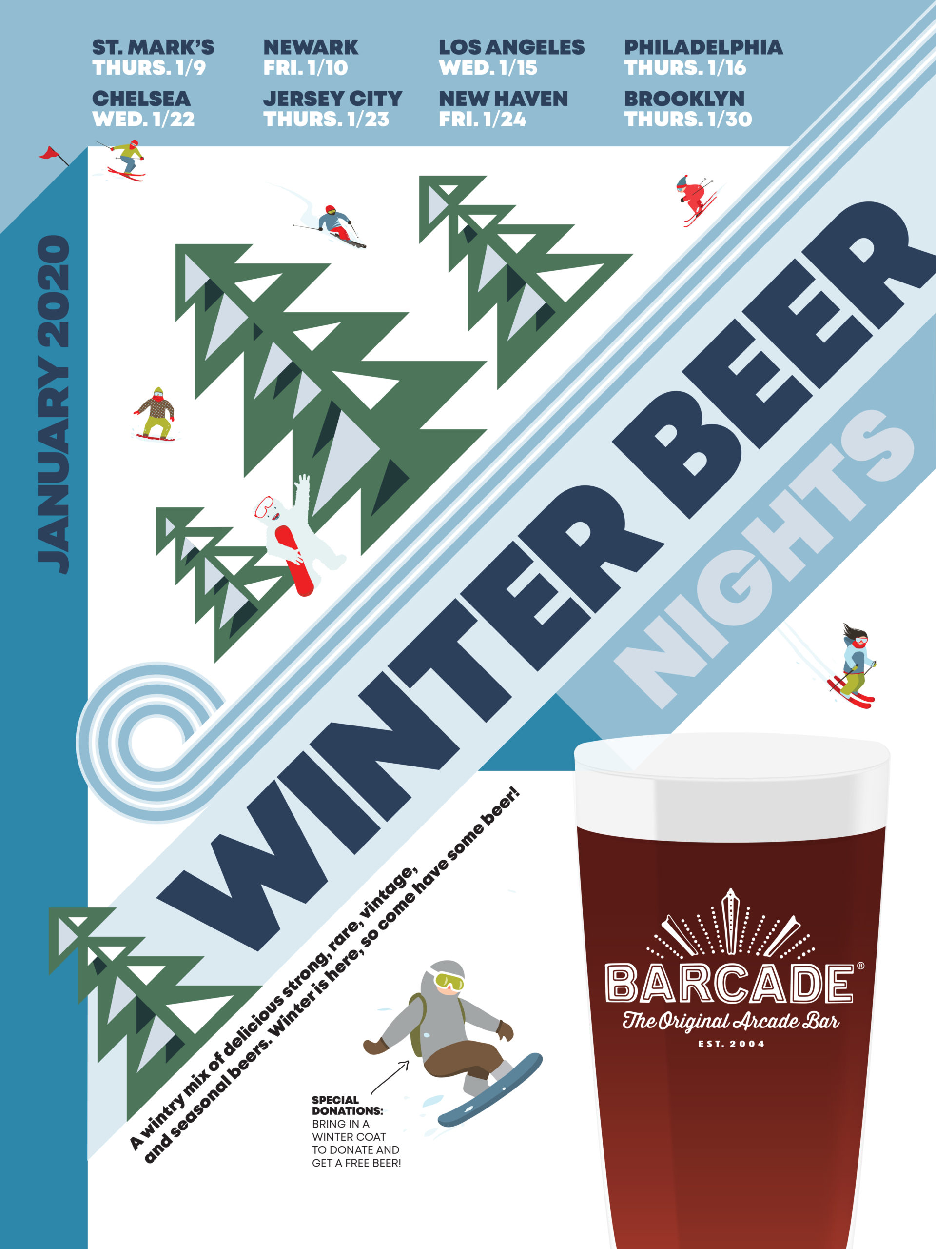 Winter Beer Night at Barcade on Thursday, January 30th 2020 in Williamsburg, Brooklyn